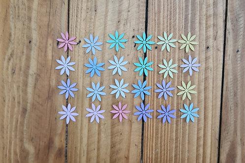 Flores de Feltro 8 pétalas.