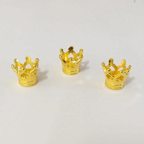 mini coroa dourada coração
