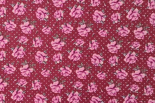 Tecido Flowers Antigo