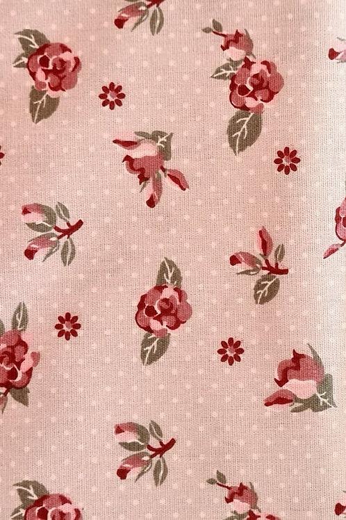 Tecido Floral Cinza
