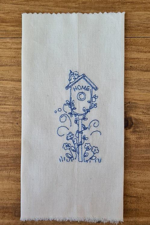 Tecido bordado mod 49 Azul