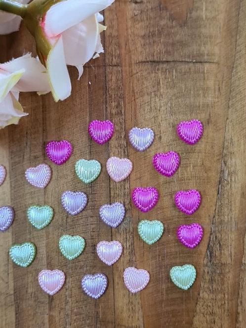 Botão Coração relevo color