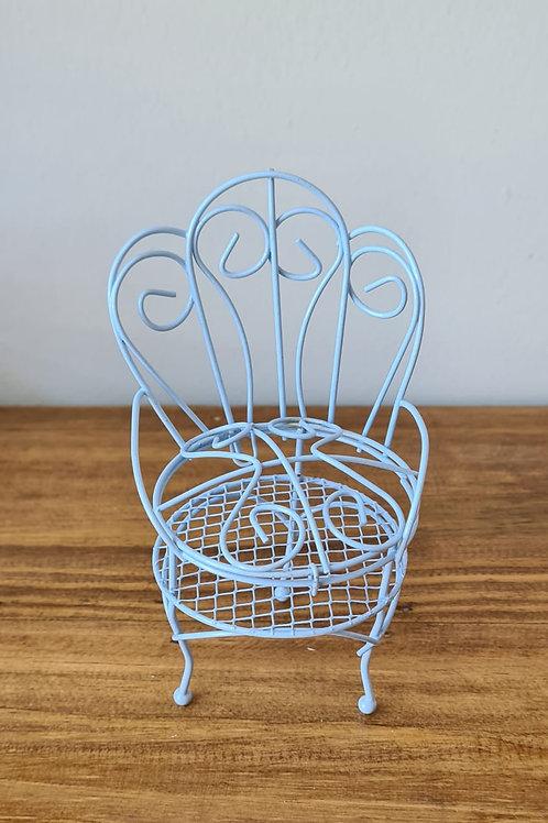 Cadeira Galvanizado - Azul Suave