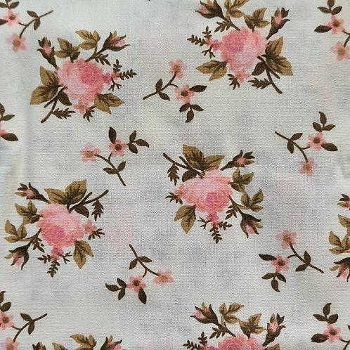Tecido Romance Rosas - Rosa