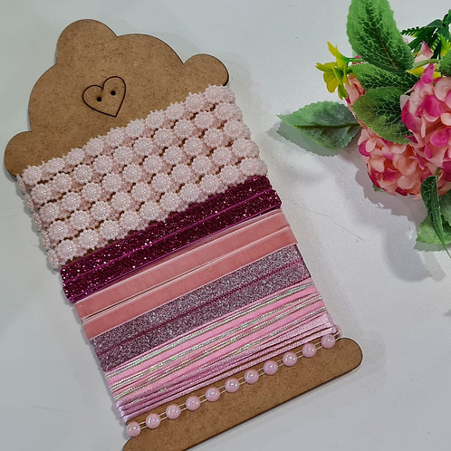 kit fitas e acabamentos rosa