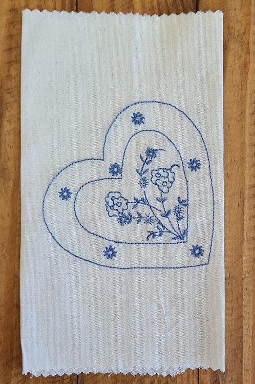 Tecido bordado mod 31 Azul