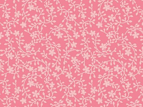 Tecido Florido  Rosa Flor Ton Ton