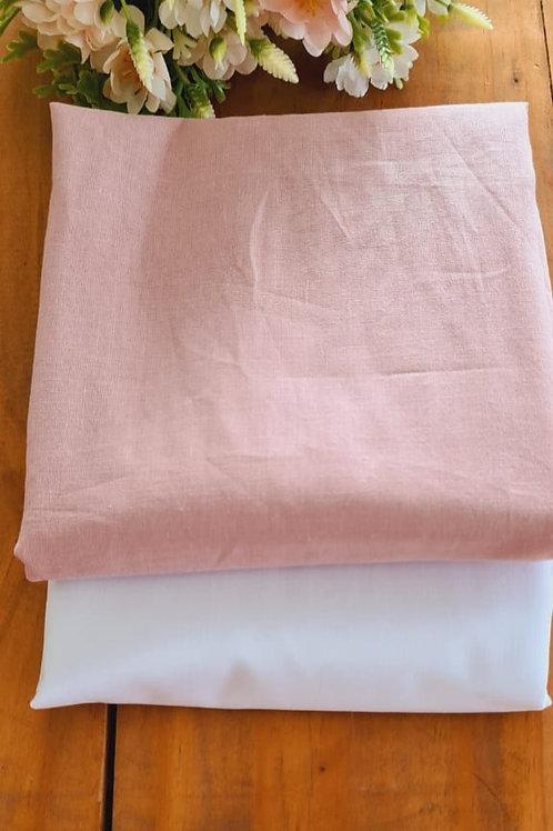 Compose Cambraia - Rosa Antigo e Branco