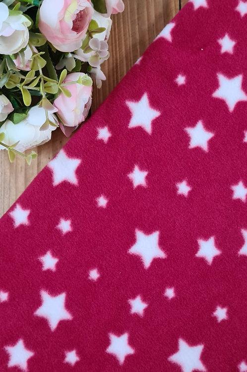Micro Soft Vermelho com estrelas