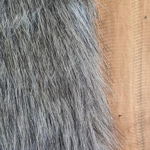 Pelúcia Alta Cinza escuro Mescla