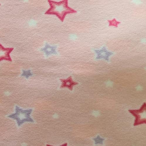 Micro Soft Estrela Rosa