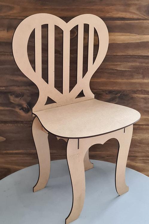 Cadeira encosto coração