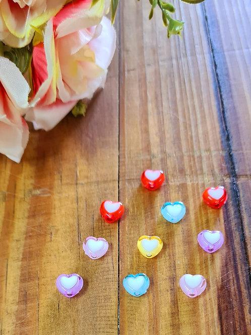 Mini Coração Candy Cristal 20 unidades