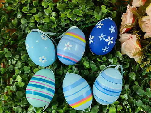 Ovos Decorados azul