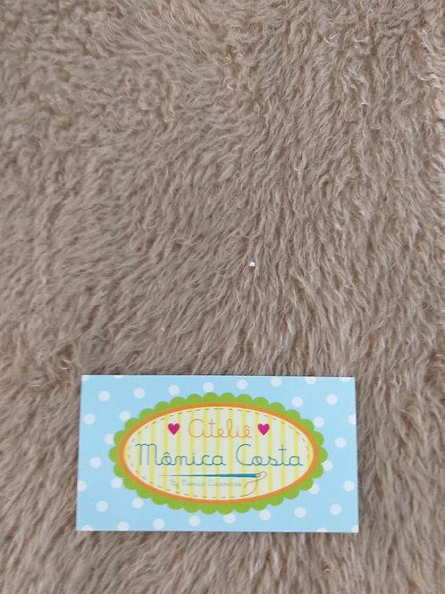 Pelúcia escovada/Penteada caramelo