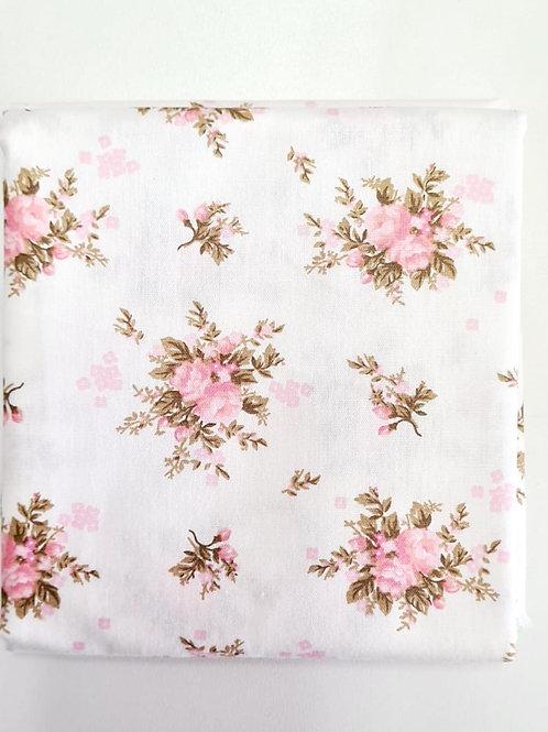 Tecido Floral Linda -  rosa