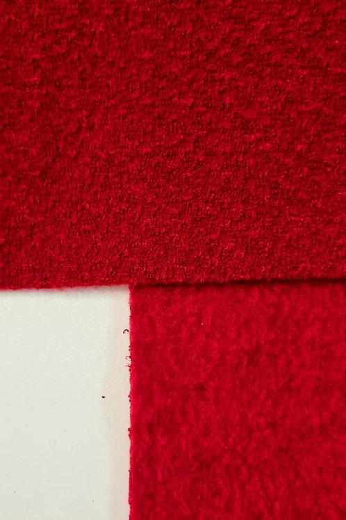 Tecido Dupla Face - Bucle/Flanelado - Vermelho