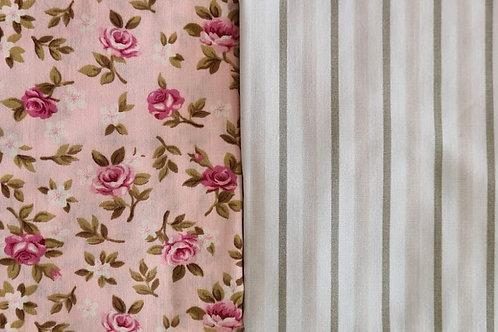 Compose Floral Rosas - Rosa + Listras
