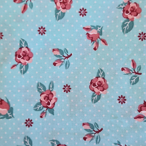 Tecido Floral tifany
