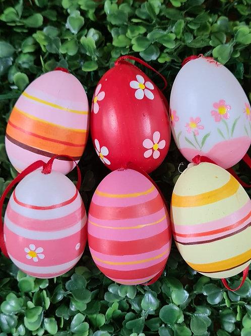 Ovos Decorados vermelho Rosa