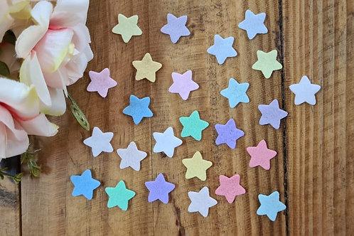 Estrela mini feltro aplique