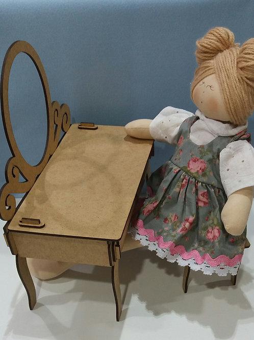 Penteadeira coleção guardar roupa de boneca