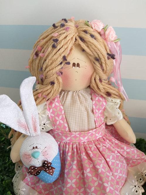 Apostila Digital boneca Clarinha e seu coelho cake