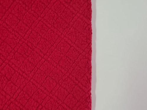 Uniflock/Melton Quadriculado Vermelho