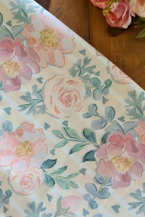 Tecido floral rose -veneza