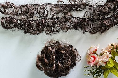 cabelo sintético Chanel castanho medio