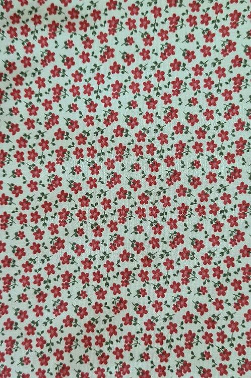 Tecido Mini Flores - Fundo Verde