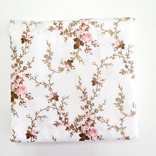 Tecido Floral Delicada - Rosa