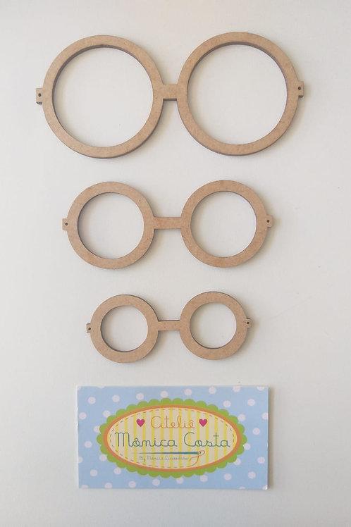 Kit óculos redondo grande