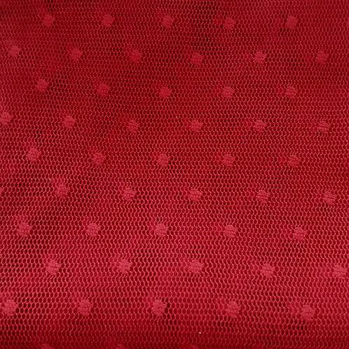 Tule Especial vermelho de bola