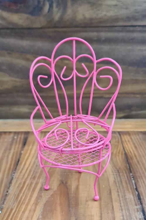 Cadeira Galvanizado - Rosa Chiclete
