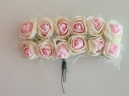 Flor - Creme com Rosa Suave