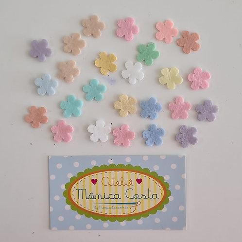 Flores Mini Feltro Aplique 1,5 cm