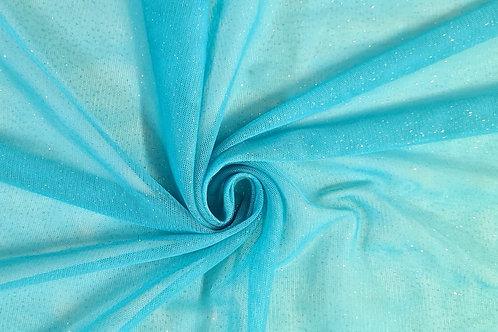 Tule Gliter Macio  Azul Céu