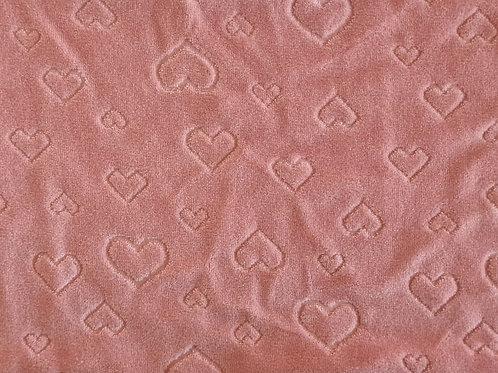 Plush Coração Rosa Antigo