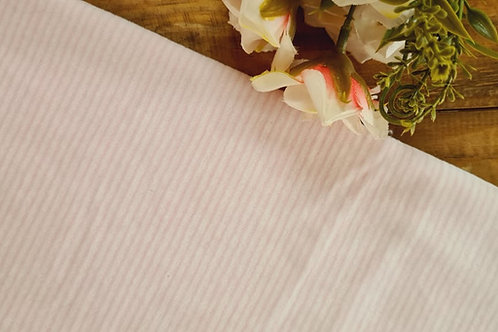 Plush listra fina  rosa bb e branco