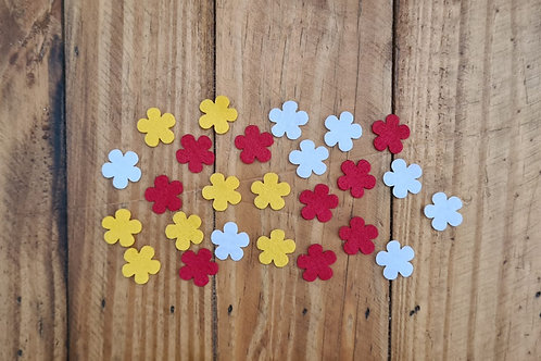 Flores de Feltro Aplique