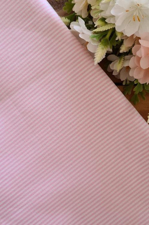 Tecido Listra Extra Fina Rosa - perna de boneca