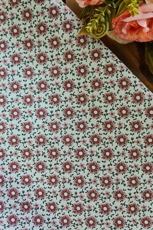 Tecido rosé vintage florido