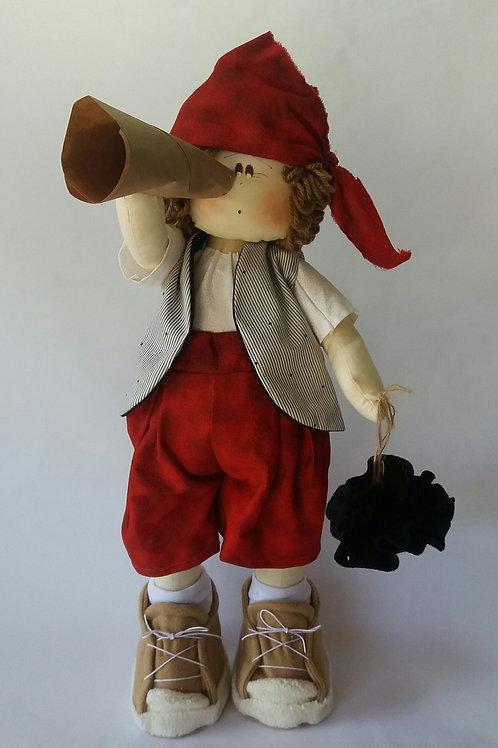 Boneco Pirata Bandana