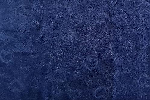 Plush Coração Azul Marinho