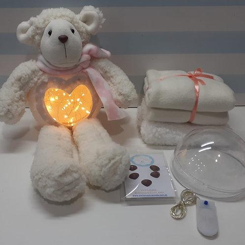 Kit Material Ovelha baby Brilhante Branca