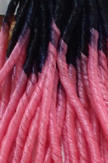 Cabelo nina rosa e preto