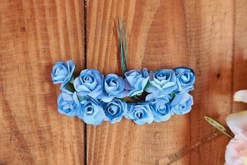 Flor de papel Azul hortência