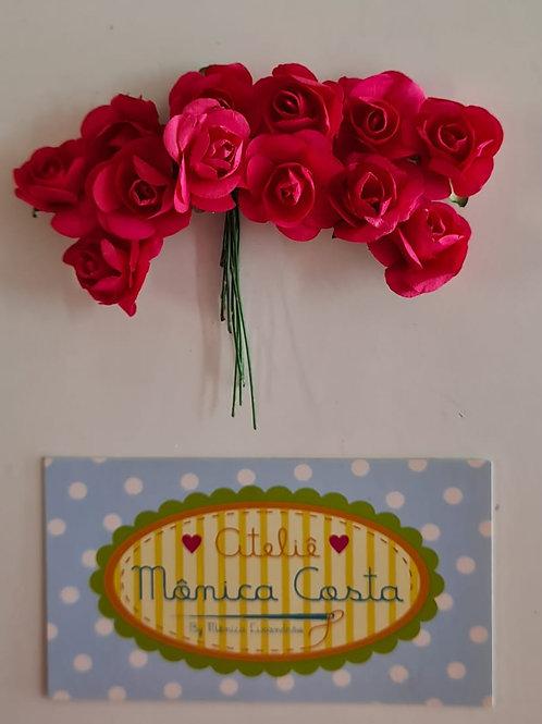 Flor de papel rosa forte