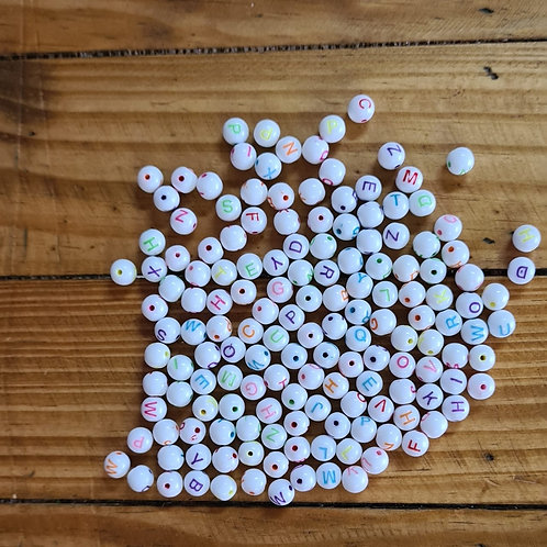 Mini letras collor redonda 100 gramas